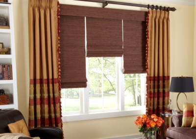 Natural Roman Shades & Drapes