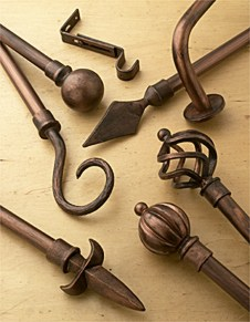 Decorative Window Covering Rods and Hardware
