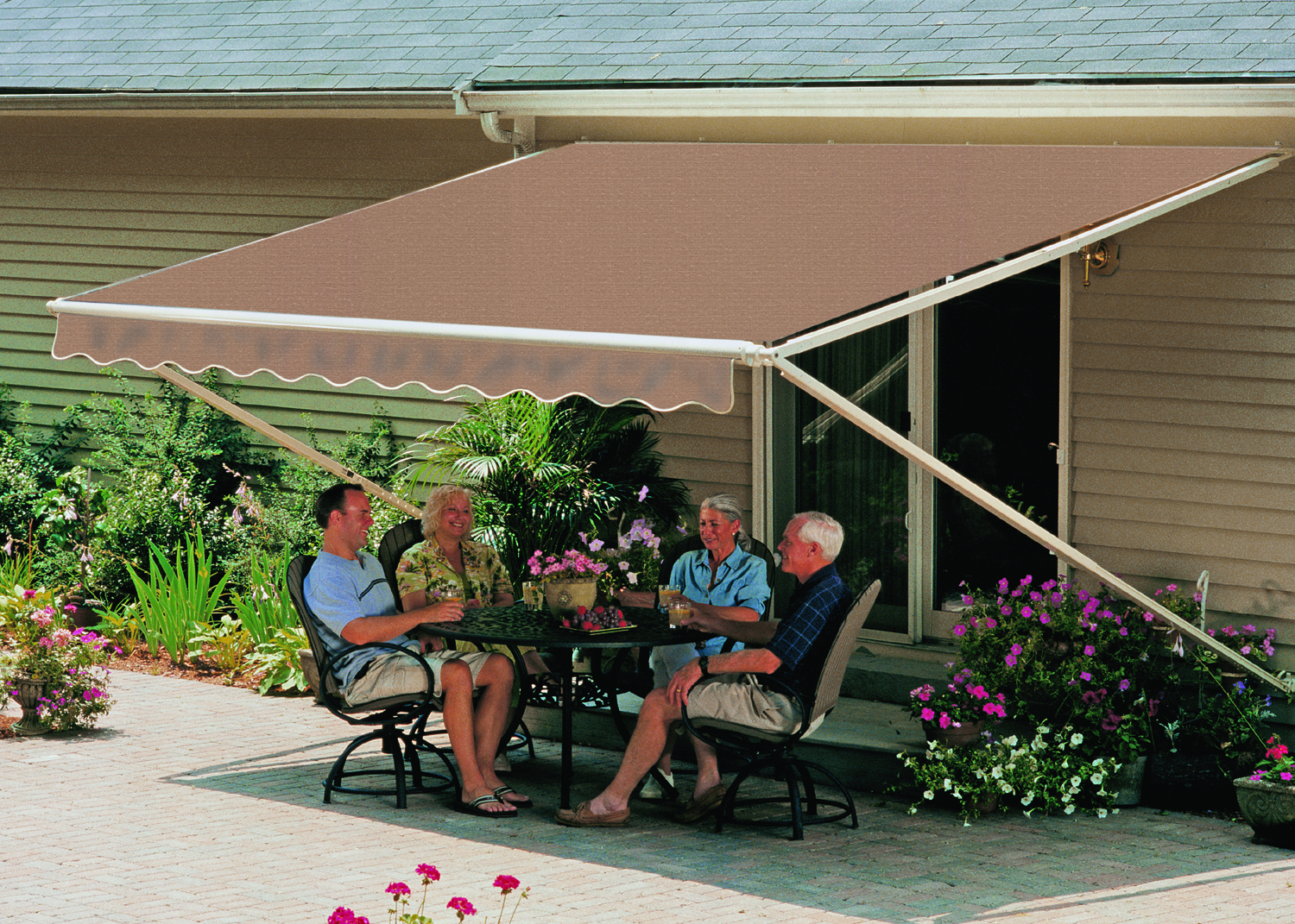 Outdoor Patio and Deck AwningsSunSetter Motorized Retractable Awnings in LA by Galaxy Draperies. Retractable Awnings For Decks And Patios. Home Design Ideas