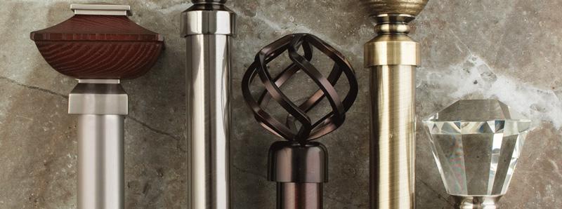 decorative drapery rods
