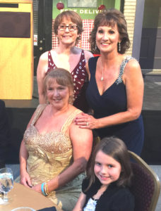 Diane Baker and Hazel's grandmother, aunt and big sister at the 1st Annual Ever After Ball by the St. Baldrick's Foundation