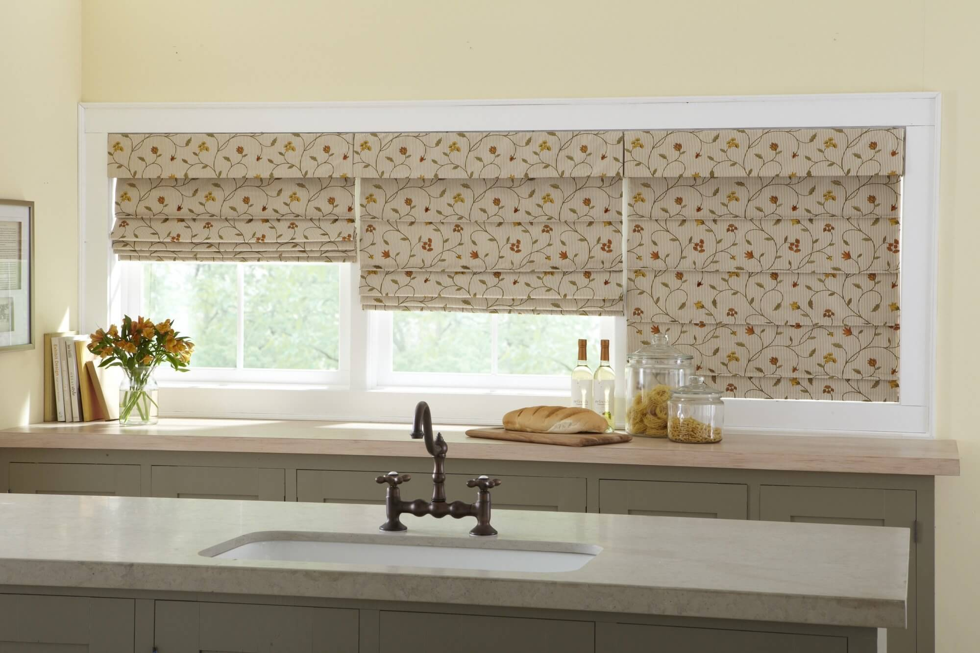 Roman Shades By Galaxy Draperies Los Angeles Ca