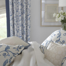 Custom Bedding & Matching Draperies in Bedroom