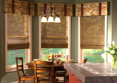 Natural Roman Shades under Valance