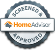 Screened and approved badge awarded by HomeAdvisor.