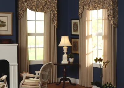 Asymmetrical Fabric Valance