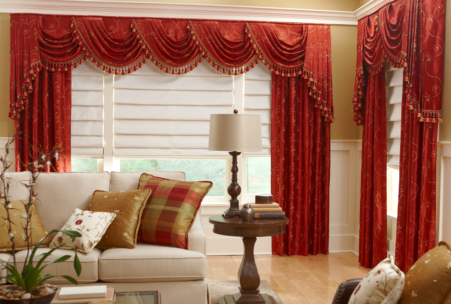 Valance With Swags Cascades