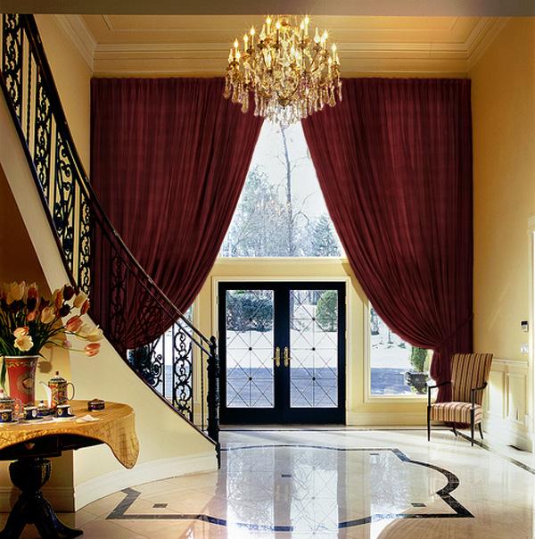 Gorgeous Marsala Window Treatment