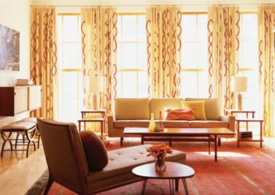 Decorative Living Room Yellow Curtains
