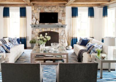 Living Room Color Block Curtains