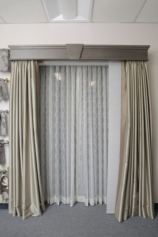 An Archway Covered With Sliding Panel Vertical Blinds Under Taupe Draperies All A Real Layering Treatments