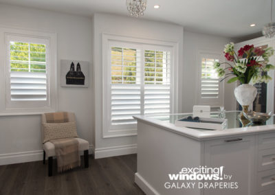 Light through the top, privacy through the bottom - this closet is perfect with split shutters.