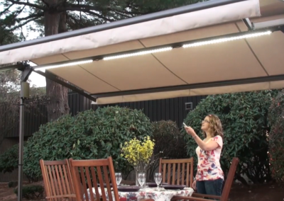 Remote control operation makes opening and closing your awning simple.