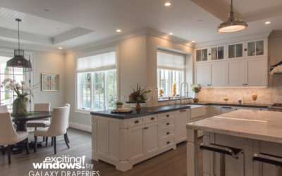 Galaxy Home Makeover: Clean, minimalist, beachy feel windows with privacy and open air.