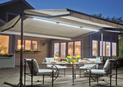 LED lights never need to be taken down and use less energy than traditional outdoor lights.