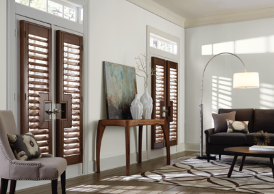 Wooden shutters are accent pieces all on their own.