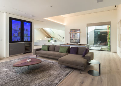 Windows allow views into the shark tank from many different areas of the home.