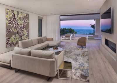 Gorgeous views with gorgeous automated, sliding draperies onto a patio_
