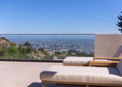 You can't beat this view of Hollywood Hills from your own private deck.
