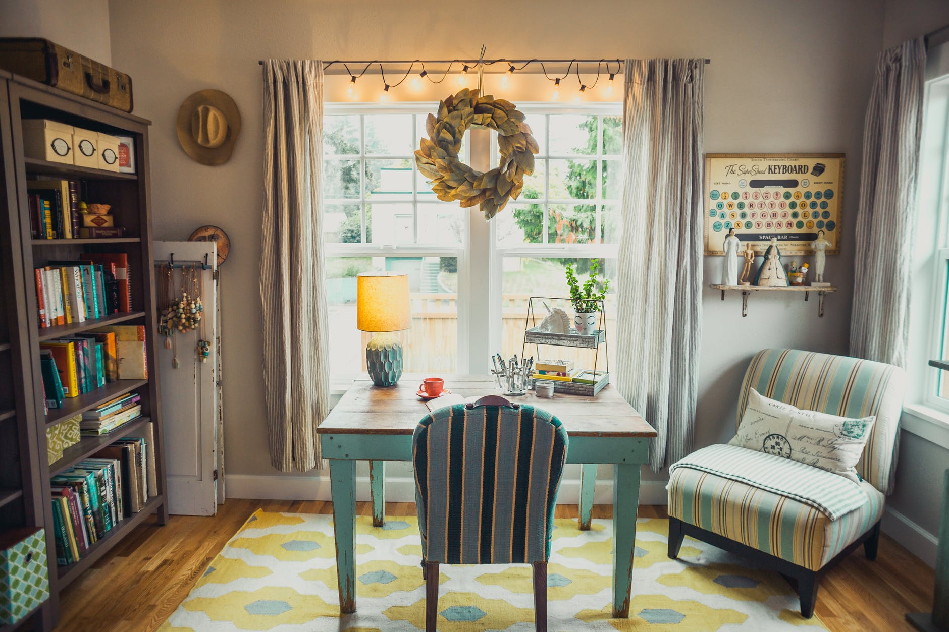 Hang Lights From Curtain Rod - Decorating for the Holidays without Damage