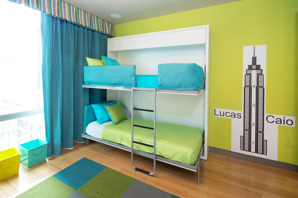 green yellow and blue room for a child