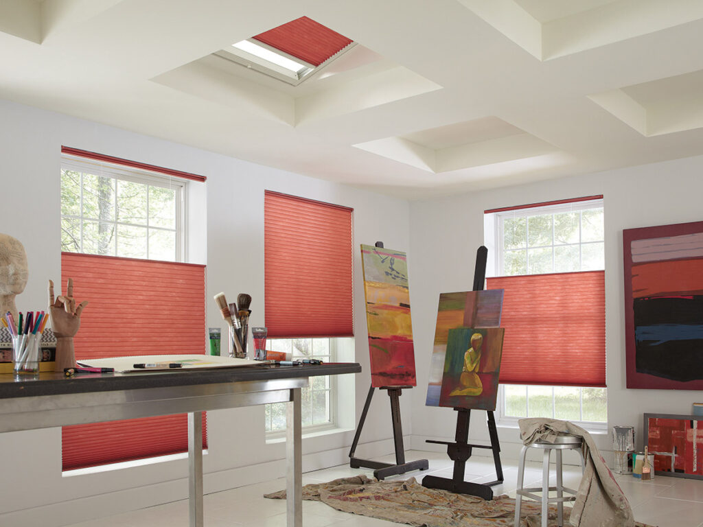 cellular shades are a great way to cover your skylight and windows for high insulation and uv protection